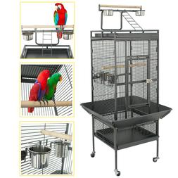 """61"""" Large Bird Cage Large Play Top Parrot Finch Cage Pet Sup"""
