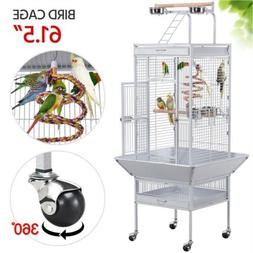 "61"" Large Bird Cage Play Top Parrot Finch Macaw Cockatoo Pet"
