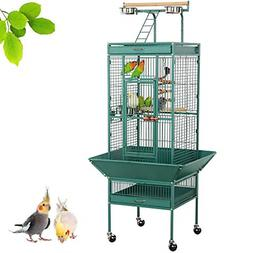 Yaheetech 61'' Wrought Iron Rolling Large Bird Cages for Afr