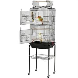 Play Open Top Parakeet Bird Cages for Cockatiels Canaries Bu