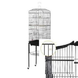 """62"""" Yaheetech Rolling Bird Cage w/ Black Stand & Perch for P"""