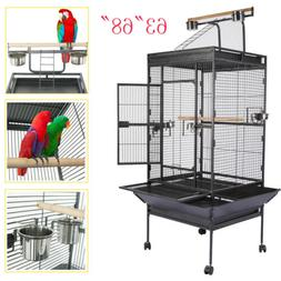 "63""68"" Bird Cage Cages Large Play Parrot Finch Cage Macaw Co"