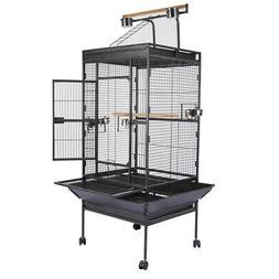 "63"" Bird Cage Cages Large Play Parrot Finch Cage Macaw Cocka"