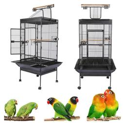 "63"" House Bird Cage With Stand For Canary Finch Small Bird C"