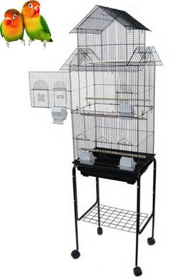 "63"" House Top Bird Cage With Stand For Canary Finch Lovebird"