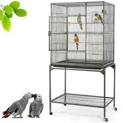 "63"" Large Bird Cages For Mid-Sized Parrot Cockatiels Parakee"