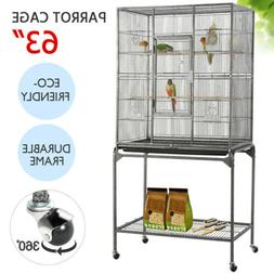 63'' Large Bird Cages for Mid-Sized Parrot Cockatiels Parake