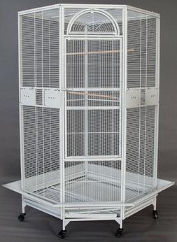 "63"" Large Corner Bird Flight Cage Cockatiel Parakeet Budgies"