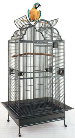 """63"""" Large Wrought Iron Open Dome Play Top Parrot Macaw Cocka"""