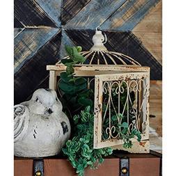 """Deco 79 63385 Wood Metal Bird Cage Sculpture , 27""""/19""""/15"""""""