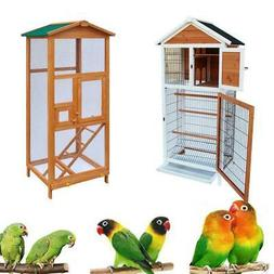 "64""65"" Bird Cage Wooden  Parakeet Canary Finch Conure Aviary"