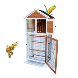 """64"""" Bird Cage Parakeet Canary Finch Conure Play House 3 Wood"""