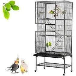 69&39&39H Extra Large Bird Cage For Mid-Sized Parrots Cockat