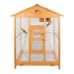 "Magshion 69"" Deluxe House Shape Bird Cage with Hatch Room, F"