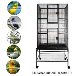 69'' Large Bird Cage Playtop Pet Supplies House W/Perch Stan