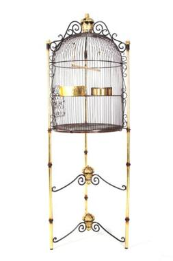 6ft Large Gold Decorative Royal Birdcage on Stand