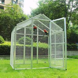 70''*48''*76'' Outdoor Large Bird Cage Walk In Aviary Parrot