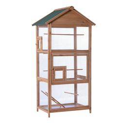 "Lovupet 70"" Outdoor Aviary Bird Cage Wood Vertical Play Hous"