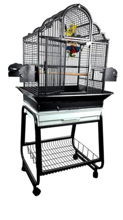 A&E Cage 703 Black Victorian Top Bird Cage with Removable St