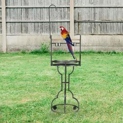 """72"""" Large Parrot Wood Perch Playstand, Bird Stand with Stain"""
