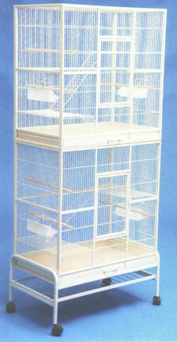 "76"" DOUBLE STACKER Parakeet Aviary Canary Budgie Finch FLIGH"
