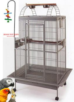 "78"" Open PlayTop Double Ladder Parrot Cage Cockatiel Macaw C"