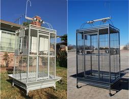 "78"" Parrot Bird Finch Cage Cockatiel Parakeet Ladder Iron Ho"