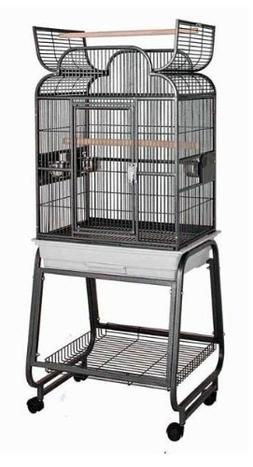 Hq 82217Cbk 22 in. x 17 in. Opening Scroll Top Cage with Car