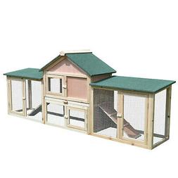 "83"" Wooden Two Story Outdoor Deluxe XL Rabbit Bunny House"