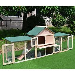 """83"""" Wooden Two Story Outdoor Deluxe XL Rabbit Bunny House"""