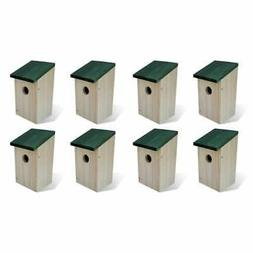 "vidaXL 8x Bird Houses Wood 4.7""x4.7""x8.7"" Pet Habitat Cage N"