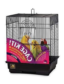 Prevue Hendryx 91103 Square Roof Bird Cage Kit, Black