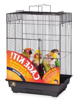 Prevue Hendryx 91351 Square Roof Bird Cage Kit, Black