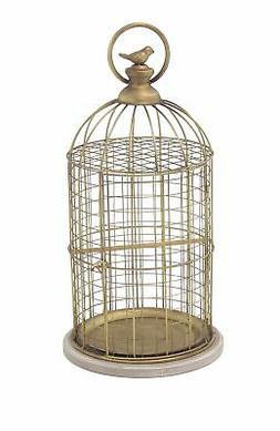 Deco 79 94672 Decorative Bird Cage, Gold