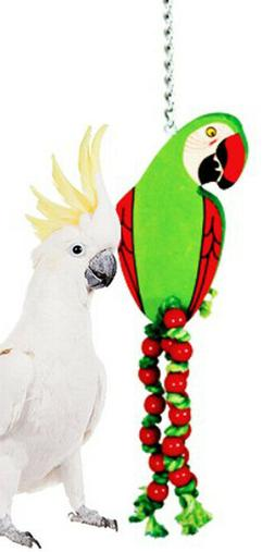 989 large parrot wood bird toy cage