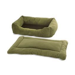 Pet Dreams- 2-in-1 Plush Bumper Dog Bed & Crate Pad Set- Sag