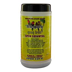 Poop-Off Anywhere Bird Poop Remover Wet Wipes, Set of 70