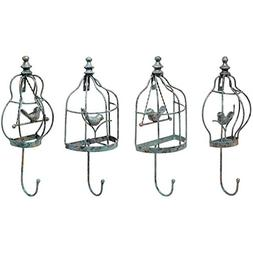 Set of 4 Turquoise Decorative Vintage Birdcage Designer Meta