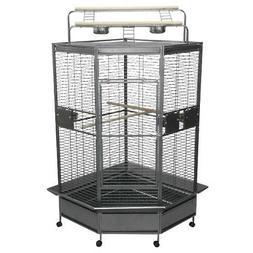 "A&E Cage Co. CC3232 Black Corner Bird Cage, 32""/Large"