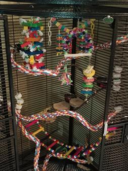 A&E Large Corner Cage Black by a&e Cage BLACK Bird Cage Grea