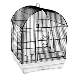 A&E Cage Co. 18''x18'' Round Top Cage; Ivory