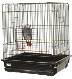 A&E Cage Co. Flat Top Small  Bird Cage; Ivory
