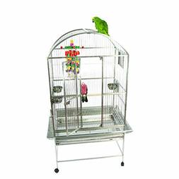 A and E Cage Co. Premium Bayard Stainless Steel Dometop Bird