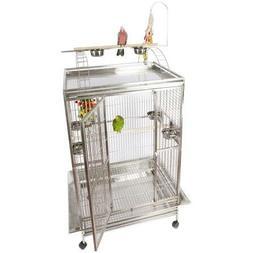 """A&E Cage 8004030 Black Play Top Bird Cage with 1"""" Bar Spacin"""