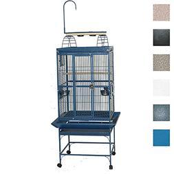 "A&E Cage 8002422 White Play Top Bird Cage with 5/8"" Bar Spac"