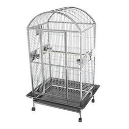 A and E Stainless Steel Dometop Bird Cage 40 Inch