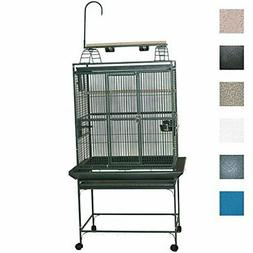 A and E Stainless Steel Playtop Bird Cage 30 Inch