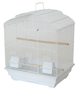 """YML A5804 3/8"""" Bar Spacing Shall Top Small Bird Cage, White,"""