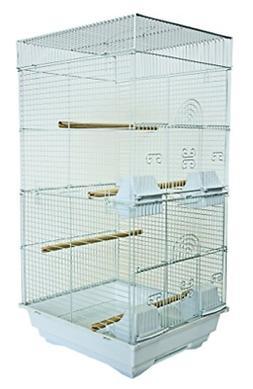 YML A6624 Bar Spacing Tall Square 4 Perchs Bird Cage, 14 x 1