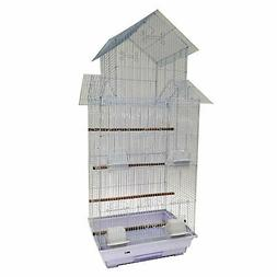 "YML A6844 3/8"" Bar Spacing Tall Pagoda Top Small Bird Cage,"